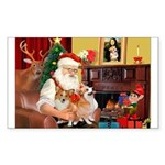 Santa's 2 Corgis (P2) Sticker (Rectangle 10 pk)