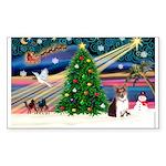 Xmas Magic & Corgi Sticker (Rectangle 50 pk)