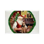 Santa's Welsh T Rectangle Magnet