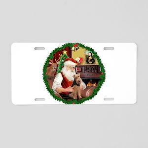 Santa's Welsh T Aluminum License Plate