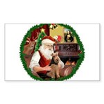 Santa's Welsh T Sticker (Rectangle 10 pk)