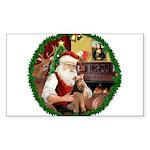 Santa's Welsh T Sticker (Rectangle)