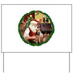 Santa's Welsh T Yard Sign