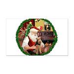 Santa's Welsh T Rectangle Car Magnet