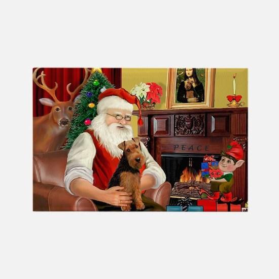 Santa's Welsh Terrier Rectangle Magnet