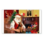 Santa's Welsh Terrier Sticker (Rectangle 50 pk)