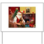Santa's Welsh Terrier Yard Sign