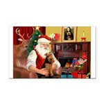 Santa's Welsh Terrier Rectangle Car Magnet