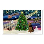XmasMagic/Welsh Terrier Sticker (Rectangle)
