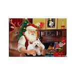 Santa's Westie Rectangle Magnet (10 pack)