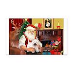 Santa's Westie Rectangle Car Magnet