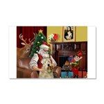 Santa's Wheaten (#7) Car Magnet 20 x 12