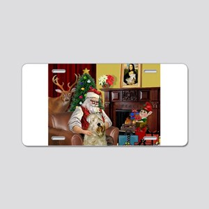 Santa's Wheaten (#7) Aluminum License Plate
