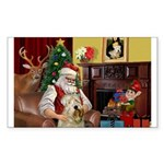 Santa's Wheaten (#7) Sticker (Rectangle 50 pk)