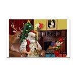 Santa's Wheaten (#7) Rectangle Car Magnet