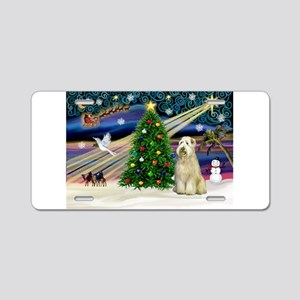 XmasMagic/Wheaten (#10) Aluminum License Plate