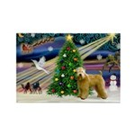 XmasMagic/Wheaten (#2) Rectangle Magnet (10 pack)