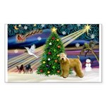 XmasMagic/Wheaten (#2) Sticker (Rectangle 50 pk)