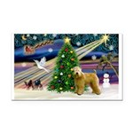 XmasMagic/Wheaten (#2) Rectangle Car Magnet