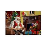 Santa's Whippet Rectangle Magnet (10 pack)