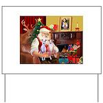 Santa & his 2 Whippets Yard Sign
