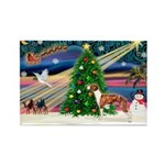 Xmas Magic & Whippet Rectangle Magnet