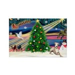 Xmas Magic & Whippet Rectangle Magnet (10 pack)