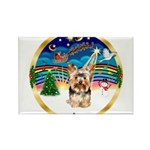 XmasMusic 3/Yorkie #17 Rectangle Magnet (10 pack)