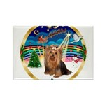 XmasMusic3/Yorkie #7 Rectangle Magnet (10 pack)