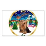 XmasMusic3/Yorkie #7 Sticker (Rectangle 10 pk)