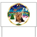 XmasMusic3/Yorkie #7 Yard Sign
