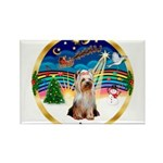 XmasMusic 3/Yorkie #2 Rectangle Magnet (10 pack)