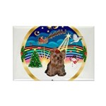 XmasMusic 3/Yorkie #11 Rectangle Magnet (10 pack)