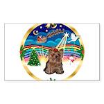 XmasMusic 3/Yorkie #11 Sticker (Rectangle 10 pk)