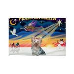 XmasSunrise/Yorkie #13 Rectangle Magnet (10 pack)