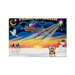 XmasSunrise/Yorkie 17 Rectangle Magnet (10 pack)