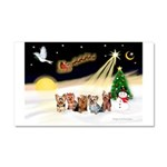 Night Flight/5 Yorkies Car Magnet 20 x 12