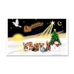 Night Flight/5 Yorkies Rectangle Car Magnet