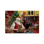 Santa's Yorkie (#11) Rectangle Magnet