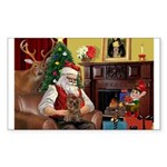 Santa's Yorkie (#11) Sticker (Rectangle 50 pk)