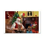 Santa's Yorkie (#11) Rectangle Car Magnet