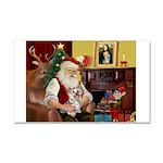 Santa's Yorkie (#13) Car Magnet 20 x 12