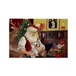 Santa's Yorkie (#13) Rectangle Magnet (10 pack)