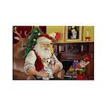 Santa's Yorkie (#13) Rectangle Magnet (10 pack)