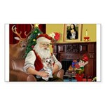 Santa's Yorkie (#13) Sticker (Rectangle 50 pk)