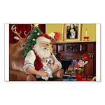 Santa's Yorkie (#13) Sticker (Rectangle)