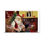 Santa's Yorkie (#13) Rectangle Car Magnet