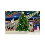 Xmas Magic/Yorkie #2 Rectangle Magnet (10 pack)