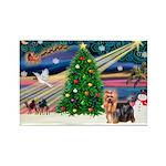 Xmas Magic & Yorkie Rectangle Magnet (10 pack)