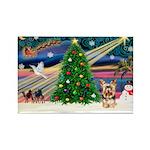 XmasMagic/Yorkie #17 Rectangle Magnet (10 pack)